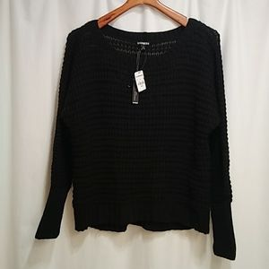 Express open knit scoop neck sweater